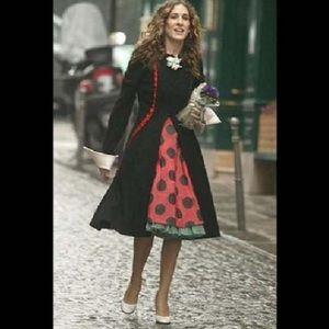 Vintage Dresses - Vintage 1950's Polka Dot Dress